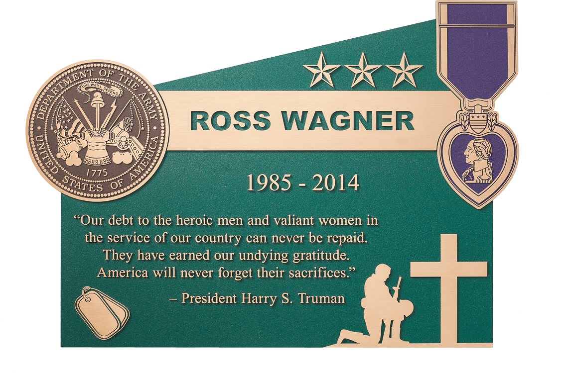 Custom Memorials plaque