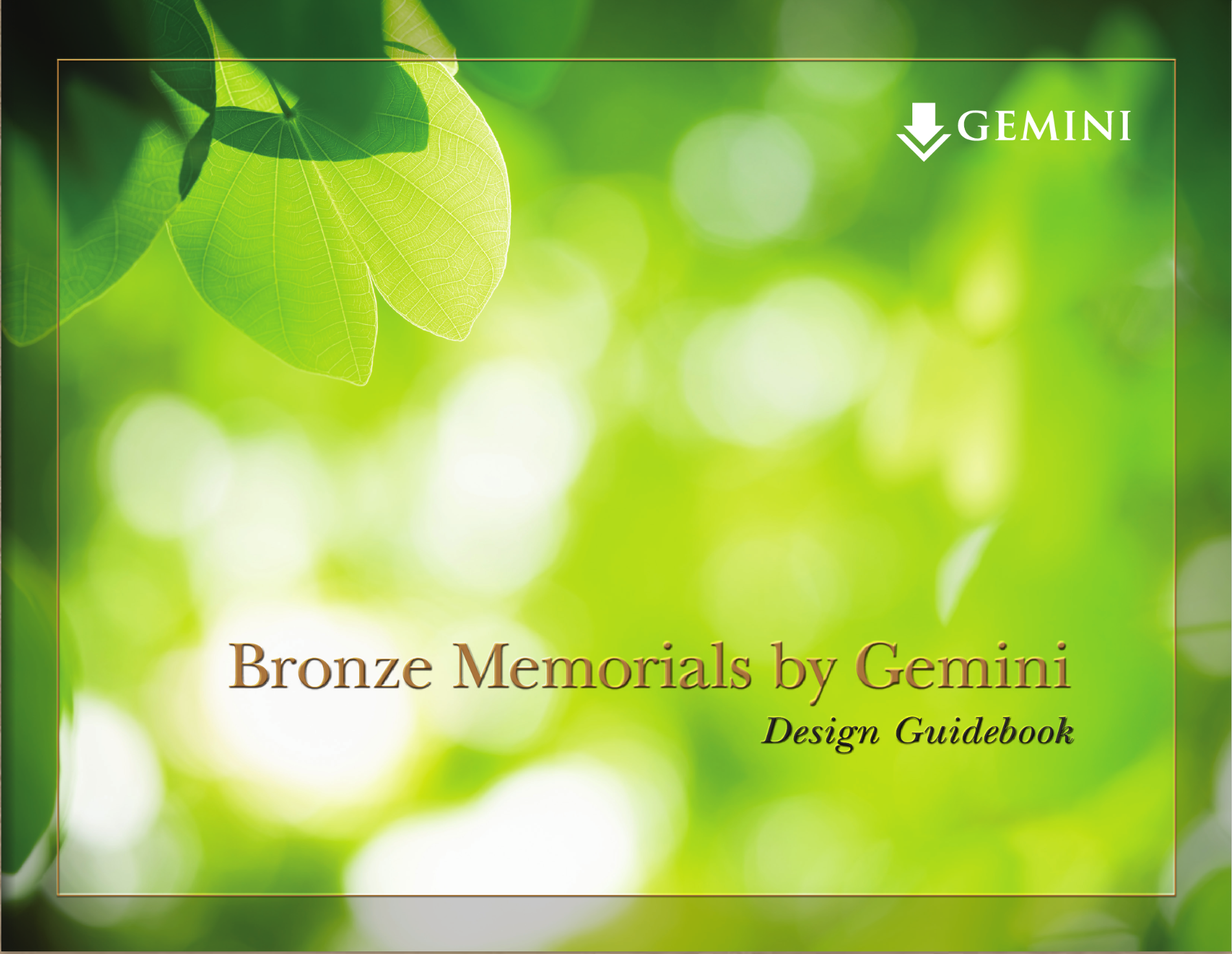 Gemini Bronze memorial design catalog catalog